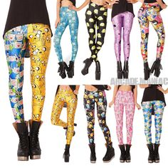 ADVENTURE TIME LEGGINGS BRAND NEW!! 9 MODELS / LEGGINS HORA DE AVENTURAS NUEVOS!