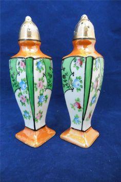 Vintage Deco Lusterware Salt Amp Pepper Shakers Made in Japan Salt Pepper Shakers, Salt And Pepper, Hand Painted, Japan, Canning, Deco, Amp, Tableware, Ebay