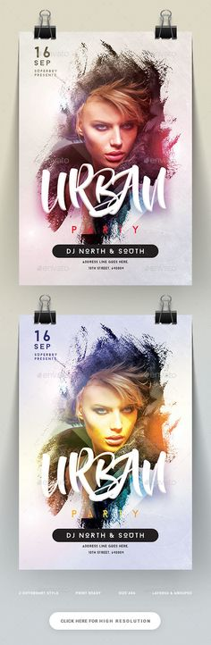 Buy Urban Party Flyer by on GraphicRiver. Features 2 Design Variations Images are Smart Objects Easy editable text CMYK @ 300 DPI ? Party Layout, Graphic Design Posters, Poster Designs, Flyer Design Inspiration, Creative Flyers, Japan Design, Party Flyer, Illustrations And Posters, Magazine Design