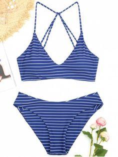 f1c820bdf1 Up to 80% OFF! Caged Striped Bikini Set.  Zaful  swimwear Zaful