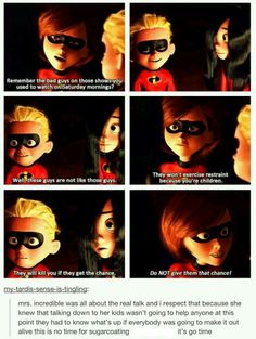 Elastigirl is best Disney mom. Not because of this moment, per se, but still. Dreamworks Animation, Disney And Dreamworks, Disney Animation, Disney Pixar, Walt Disney, Disney Facts, Disney Memes, Disney Quotes, Disney Cartoons