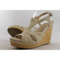 3fb6566220fb Audrey Brooke Winston Macrame Peep Toe Wedge Heel Women Pre Owned 2184. The Audrey  Brooke