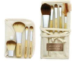 nice Authentic Organic Natural EcoTools BAMBOO Starter Makeup Brush Set Eco Tools Make up (11 piece makeup and starter set) - For Sale