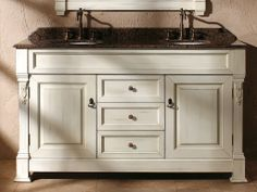 60 Inch Double Sink Vanity with Cottage White Finish