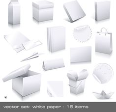 Free - Different blank Packaging design vector set 05