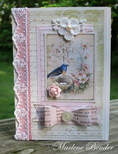 This art that makes me happy: Card by Marlene . This is a beautiful card