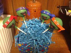 Teenage Mutant Ninja Turtle cake pops made by The POPcakery