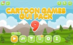 Check out Cartoon Games GUI Pack 9 by pzUH on Creative Market
