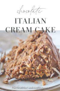 Chocolate Italian Cream Cake Recipe, Italian Cream Cakes, Chocolate Cake Recipe Easy, Chocolate Desserts, Chocolate Cream Cake, Italian Rum Cake, Italian Cookies, Cake Mix Recipes, Baking Recipes
