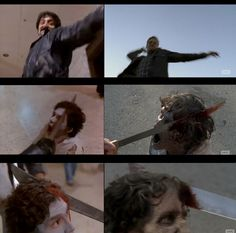 The show is littered with references to <i>Dawn of the Dead</i> and even contained a shot-for-shot remake of this iconic zombie death.