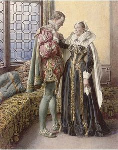 Fortunino Matania (1881-1963) - Lord Darnley and Mary Stuart