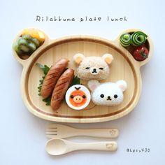 Rilakkumar & friends lunch plate by yuka (@hgsy430)
