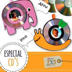 ¿Qué tal esta practica idea para una manualidad para nuestros niños? Una forma perfecta de reutilizar nuestros cd's😊👌✔ #Enun2x3 #HazloTuMismo #Panamá #Pty #507