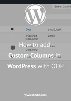Learn how to add custom columns using object oriented programming (OOP). In this tutorial we will create a simple class to handle custom columns and afterwards we will see how we can use a constructor class (factory) to create multiple columns in a simple and optimised way. Click here to read more!