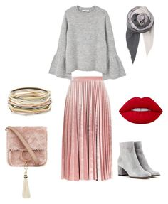 """Soft hijab"" by fatimabastiki on Polyvore featuring Topshop, MANGO, Gianvito Rossi, Brother Vellies, Lime Crime, BeckSöndergaard and Kendra Scott"