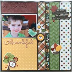 Simple Stories Pumpkin Spice Pocket Page layout close up.