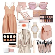 """""""peachy keen"""" by daisywolfe on Polyvore featuring New Look, Zara, NYX, Givenchy, L'Oréal Paris, MAC Cosmetics and peach"""