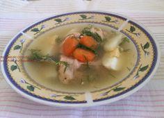 Supa de somon cu ou fiert si orez