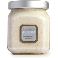 Laura Mercier Almond Coconut Milk Scrub/12 Oz. ($50) ❤ liked on Polyvore featuring beauty products, bath & body products, body cleansers, bath & body, beauty, scrubs & exfoliants, undefined and laura mercier