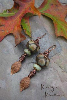 Copper Leaves by Kristy Abner, www.kristyskreations.com