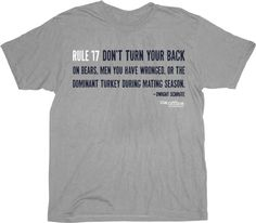 the office merchandise. The Office Rule 17 Dwight Schrute Grey Adult T-Shirt. $17.95 Medium. Merchandise R