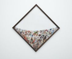 Photographic collages suspended in plexiglass by New Zealand based artist Peter Madden. // #art #collage #photography