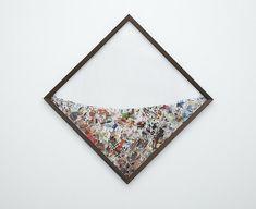 Peter Madden - Collages fotográficos suspendido en plexiglás