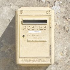 Mail Box Photography Print, Brittany, France, Pastel Monochromatic Photography…
