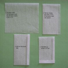 DIY Dry Wax Paper Bags by Paula- | Paper Crafts Ideas