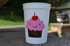 12 oz. cupcake party favor cups 5 count by ihaveafavor on Etsy, $10.00