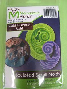 Marvelous Molds silicone scroll mold -Right Essential Swirl- fondant gum paste #MarvelousMolds