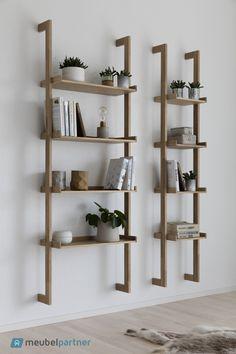 Regal Braun ladder rack, wall shelf - Decoration For Home Wooden Shelves, Wall Shelves, Floating Shelves, Wood Shelf, Ladder Shelves, Wood Ladder, Wall Racks, Book Shelves, Scandinavian Bookshelves