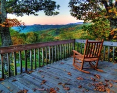 I want to be sitting in the rocking chair and looking at the beautiful view.