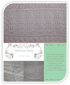 The Snow-Drop Throw by The Neave Collection