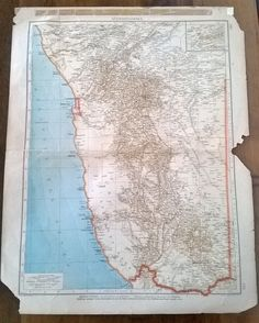 Old map of German South West Africa.