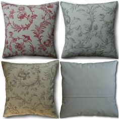 Cushion Covers made in Laura Ashley Ironworks Cranberry Red Dove Grey Amethyst Pink Cushions, Laura Ashley Patterns, Cushion Covers Uk, Cottage Crafts, Dove Grey, Traditional House, Country Living, Decorative Pillows