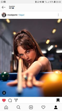 Jennifer Barretta McDermott Cues Pool Billiard Poster