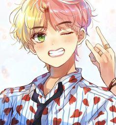 Kim taehung v bts 🌹 anime Bts Chibi, Anime Chibi, Anime Art, Fanart Bts, Taehyung Fanart, Vkook Fanart, Look Wallpaper, V Bts Wallpaper, Bts Kawaii