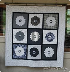 Tips on how to make a traditional quilt pattern more modern...Black and White quilt