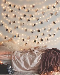 Polaroid-style Instagram Wall Art With Twinkle Lights