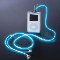 Glow in the dark ear buds...WANT!!