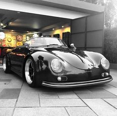 The Porsche 911 is a truly a race car you can drive on the street. It's distinctive Porsche styling is backed up by incredible race car performance. Porsche 356 Speedster, Porsche Roadster, Porsche 356 Outlaw, Porsche 356a, Porsche Carrera, Old School Cars, Oldschool, Porsche Cars, Luxury Sports Cars