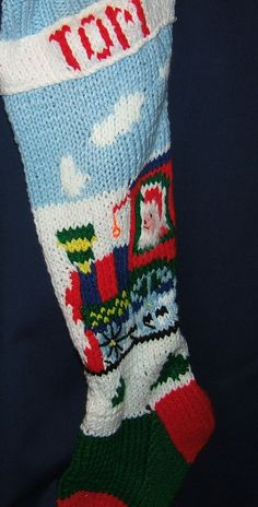 Personalized Hand Knitted Christmas stocking
