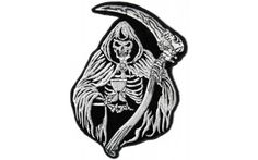 Reaper Skull Sand Clock Small Patch
