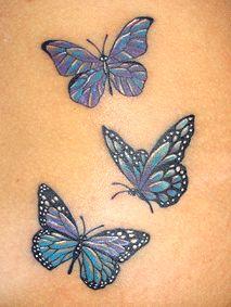 ♥ FANtÁSTICO MUNDO DA PRI ♥: Tatuagem Borboletas - Butterfly Tattoo