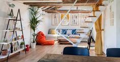 En este piso el 'Do It Yourself' funciona hasta en el interiorismo. Mesas, armarios o estanterías pueden ser hechas por nosotros si tenemos las ideas claras... Y nos inspiramos en los profesionales.