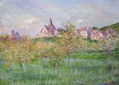 """Claude Monet (1840-1926), """"Springtime in Giverny, Afternoon""""…"""