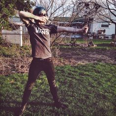 Josh Dun Shooting a bow and Arrow this easter :) twenty one pilots