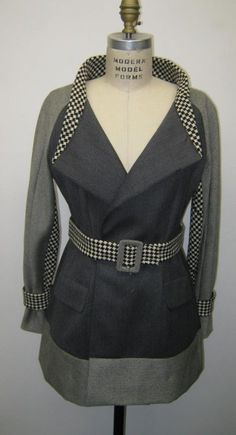 As course work for one of my pattern drafting classes I had to make a modern womens jacket by recycling men's wool garments I found at thrift stores. In the end I cheated a little, and used a full...