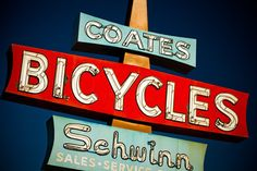 Coates Schwinn Bicycle Sign